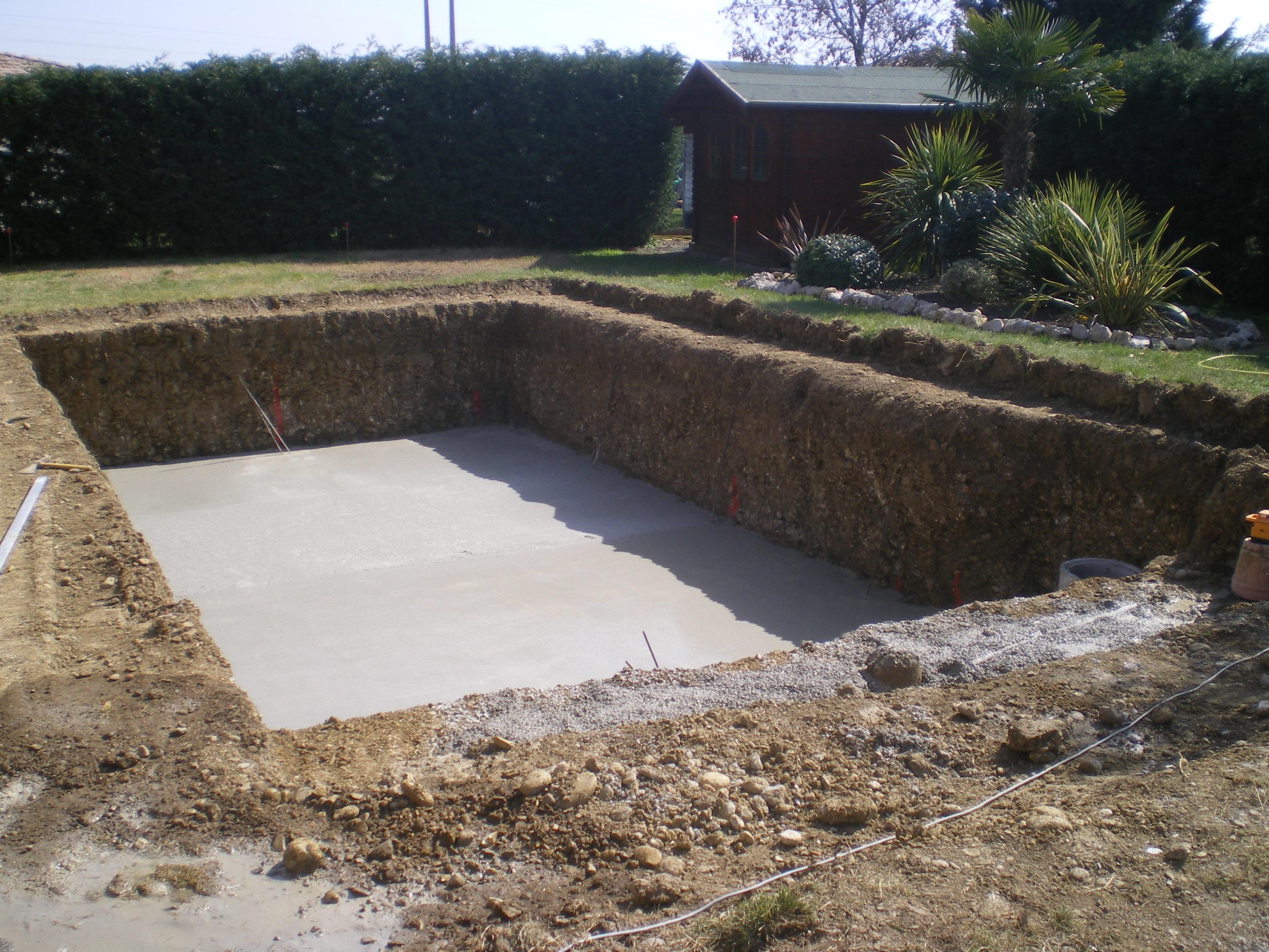 Etape 5 cr ation de l 39 l vation for Construction piscine toulouse