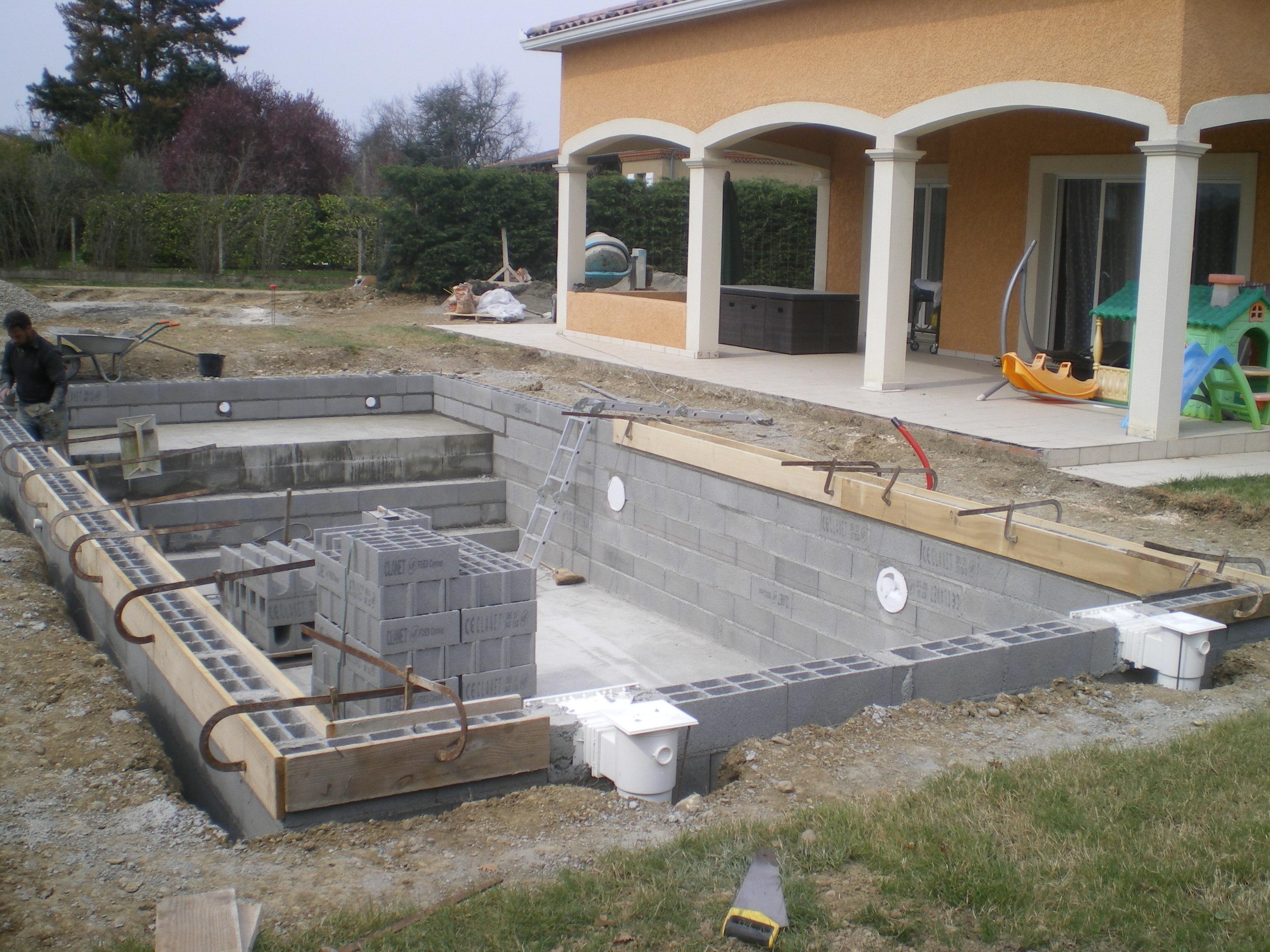 Etape 6 cr ation des plages p riph riques for Construction piscine tva 5 5