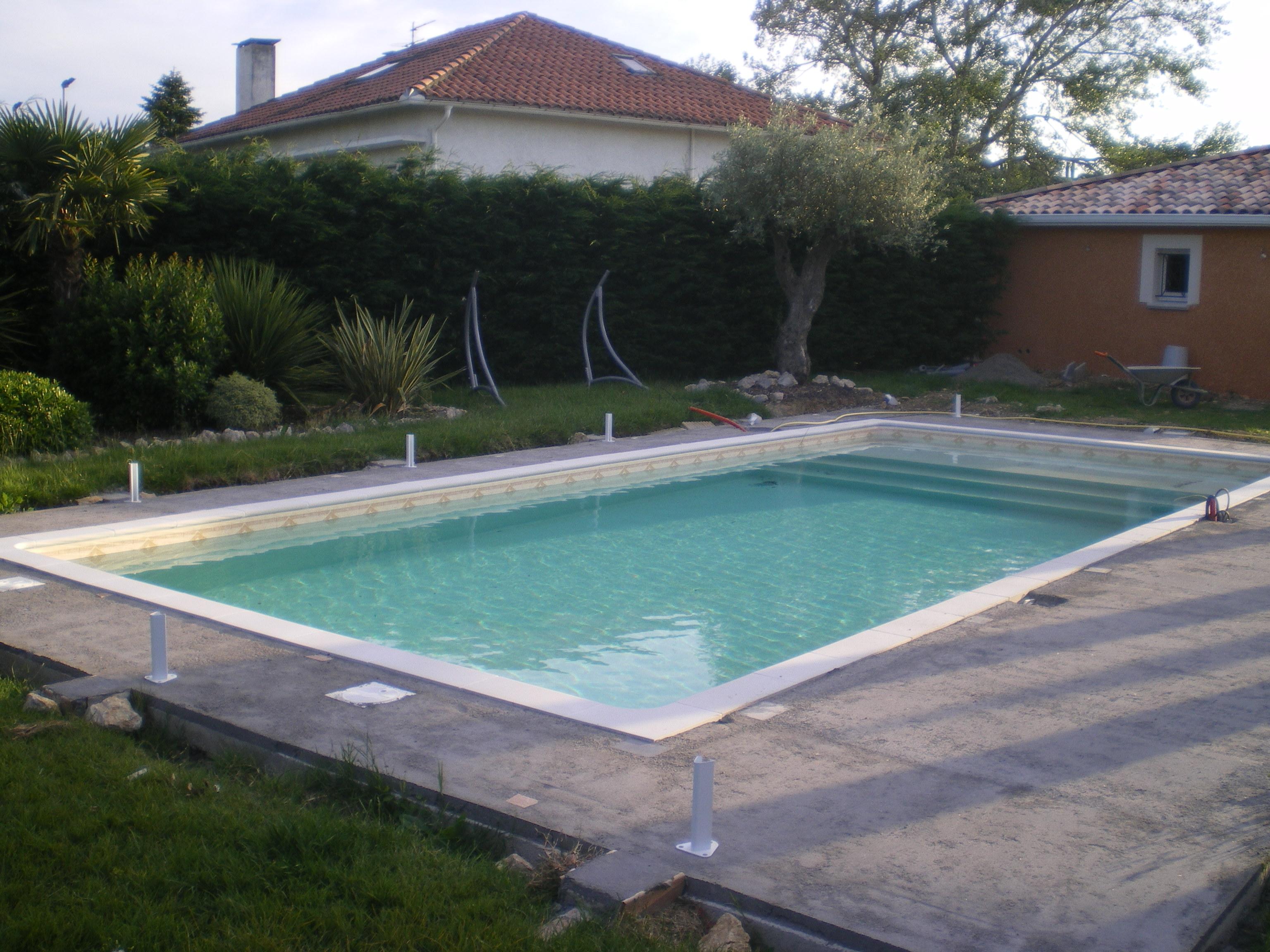 Etape 7 mise en place du liner et remplissage for Etape construction piscine
