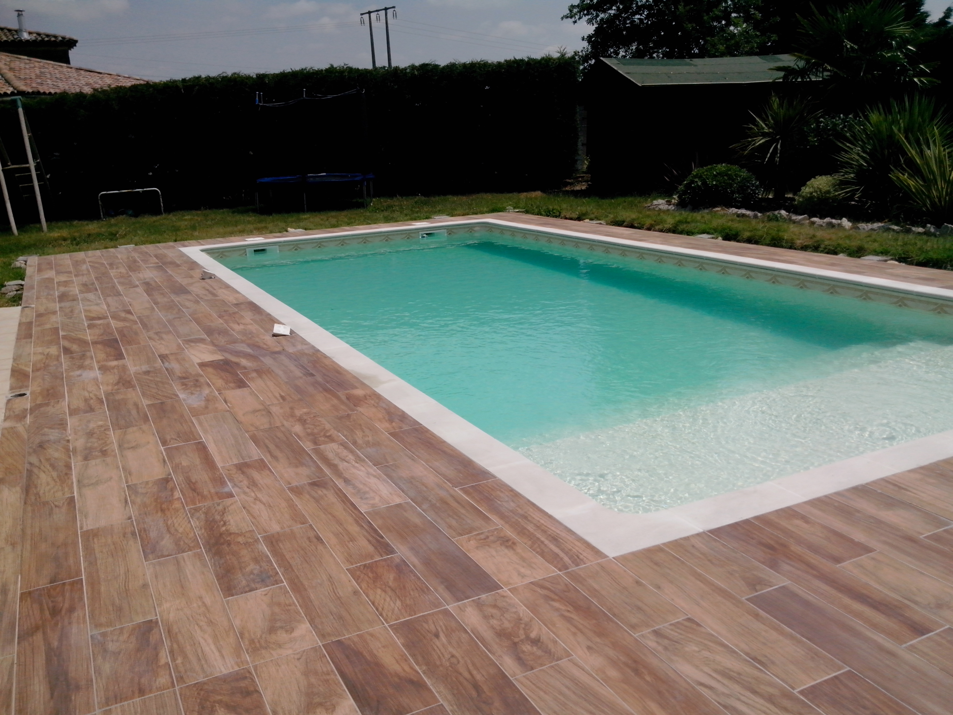 Exemple de construction d 39 une piscine traditionnelle - Exemple de piscine exterieur ...